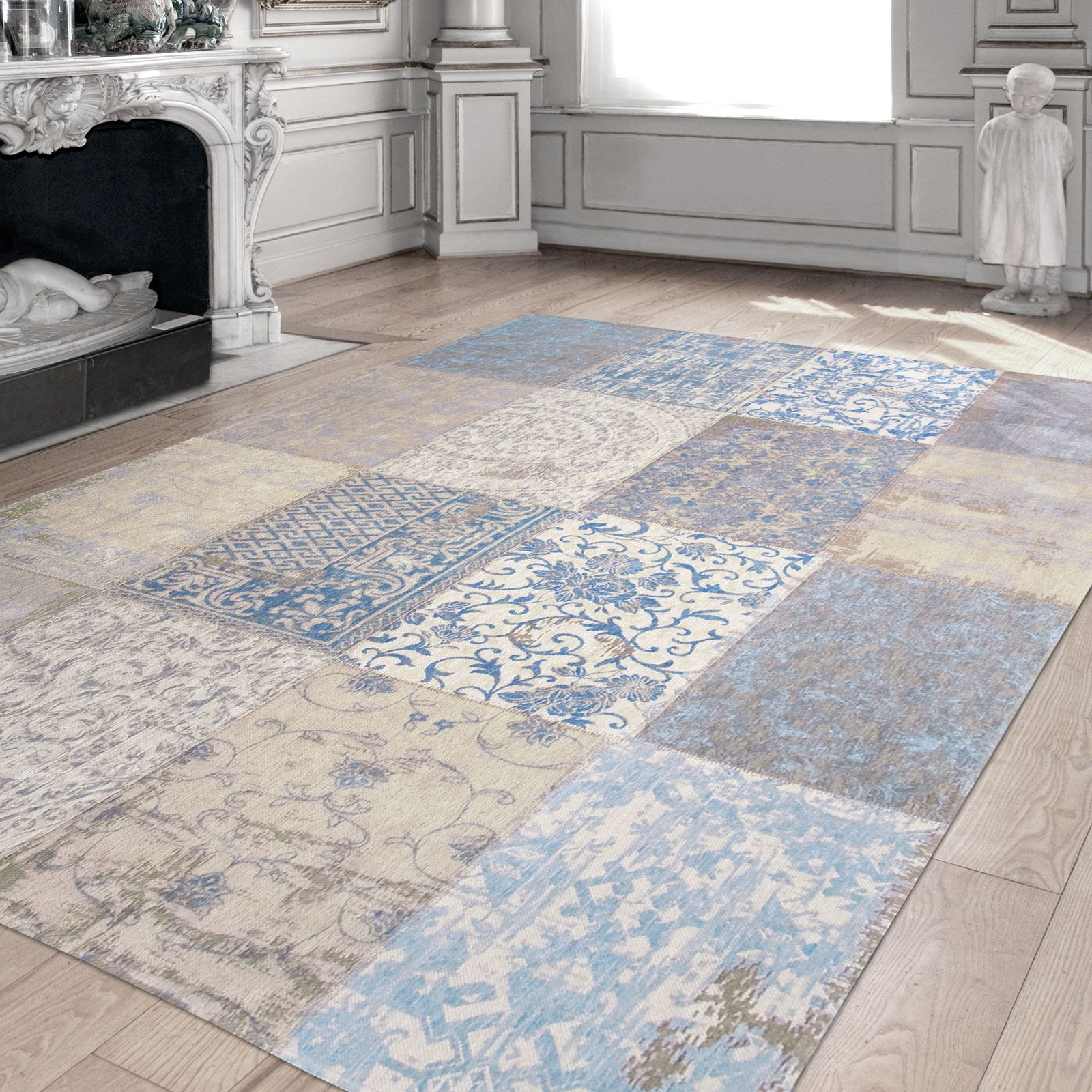 Vintage Effect Rug: A Faded Effect Design That Gives This Rug A Vintage