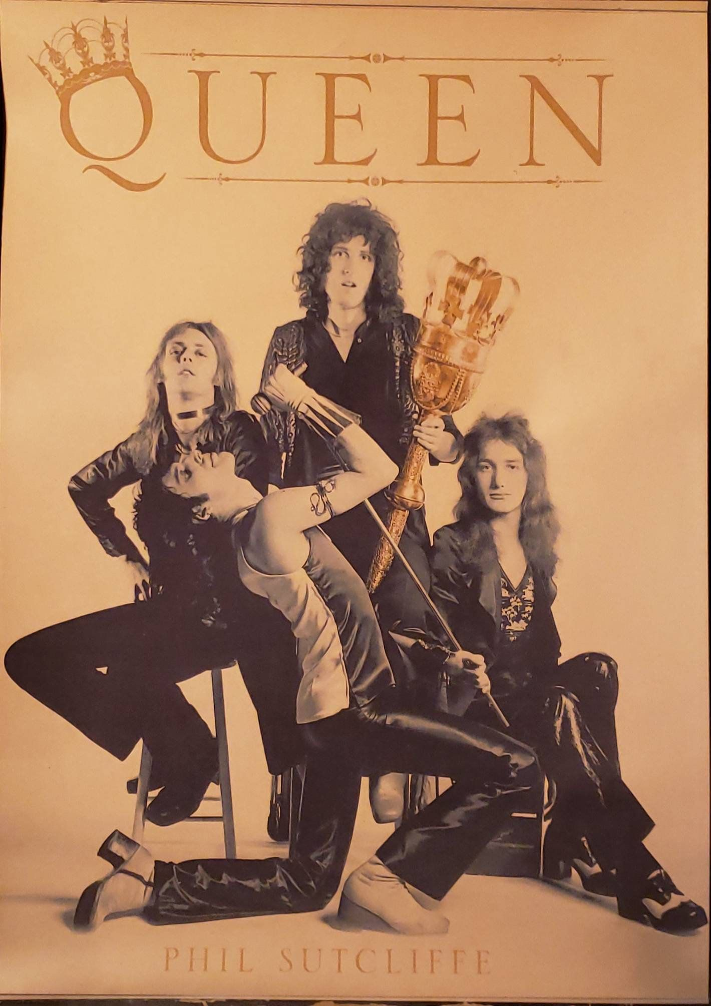 Vintage Queen Poster By Phil Sutcliffe Reproduction Etsy Queen Poster Queen Friend Phil
