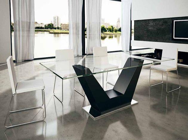 Design esstisch aus holz modell verona glas for Esstisch glas holz design