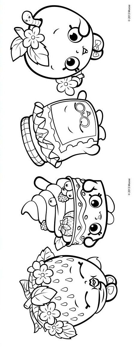 Shopkins Coloring Com Imagens Desenhos P Pintar Imprimir