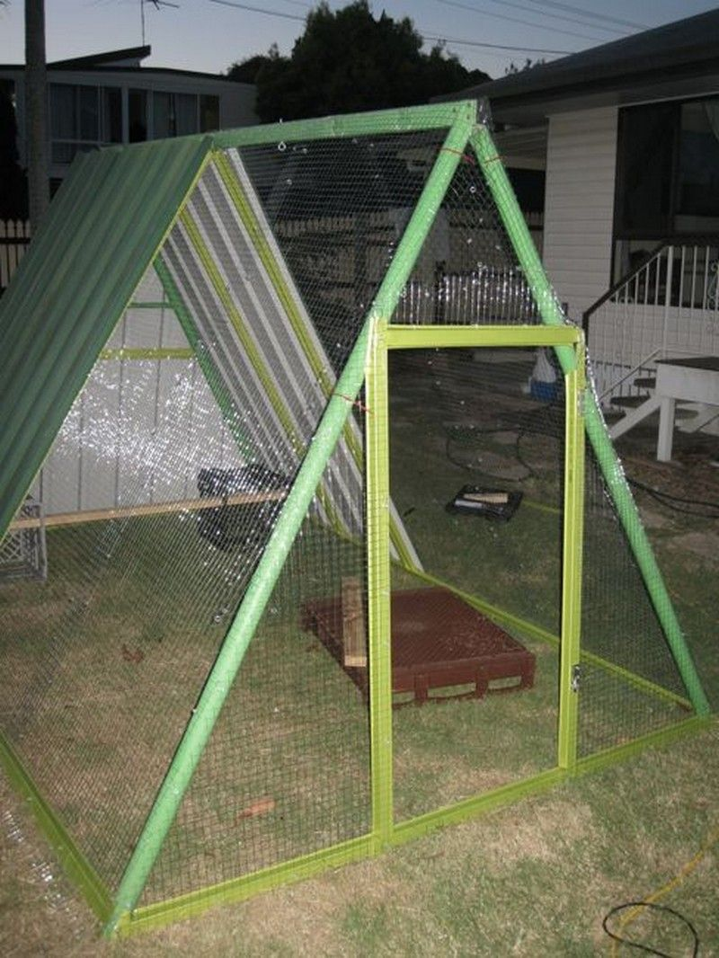 Diy repurposed swing set chicken coop chickens for Building a swing set from scratch