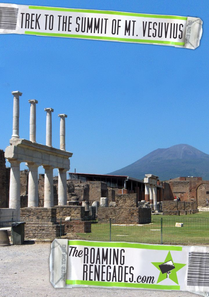 Trekking to the top of Mt. Vesuvius, made famous for the destruction of Pompeii in Roman Italy. http://theroamingrenegades.com/2016/03/trekking-summit-mt-vesuvius-live-volcano-pompeii.html > http://theroamingrenegades.com/2016/03/trekking-summit-mt-vesuvius-live-volcano-pompeii.html  #Travel #Europe #Italy #Naples #Pomepii #Versuvius #explore #adventure #cycle #Volcano #nature #thegreatoutdoors #roadtrip #backpacking #travelaroundeurope #Italian #bucketlist #wanderlust #history