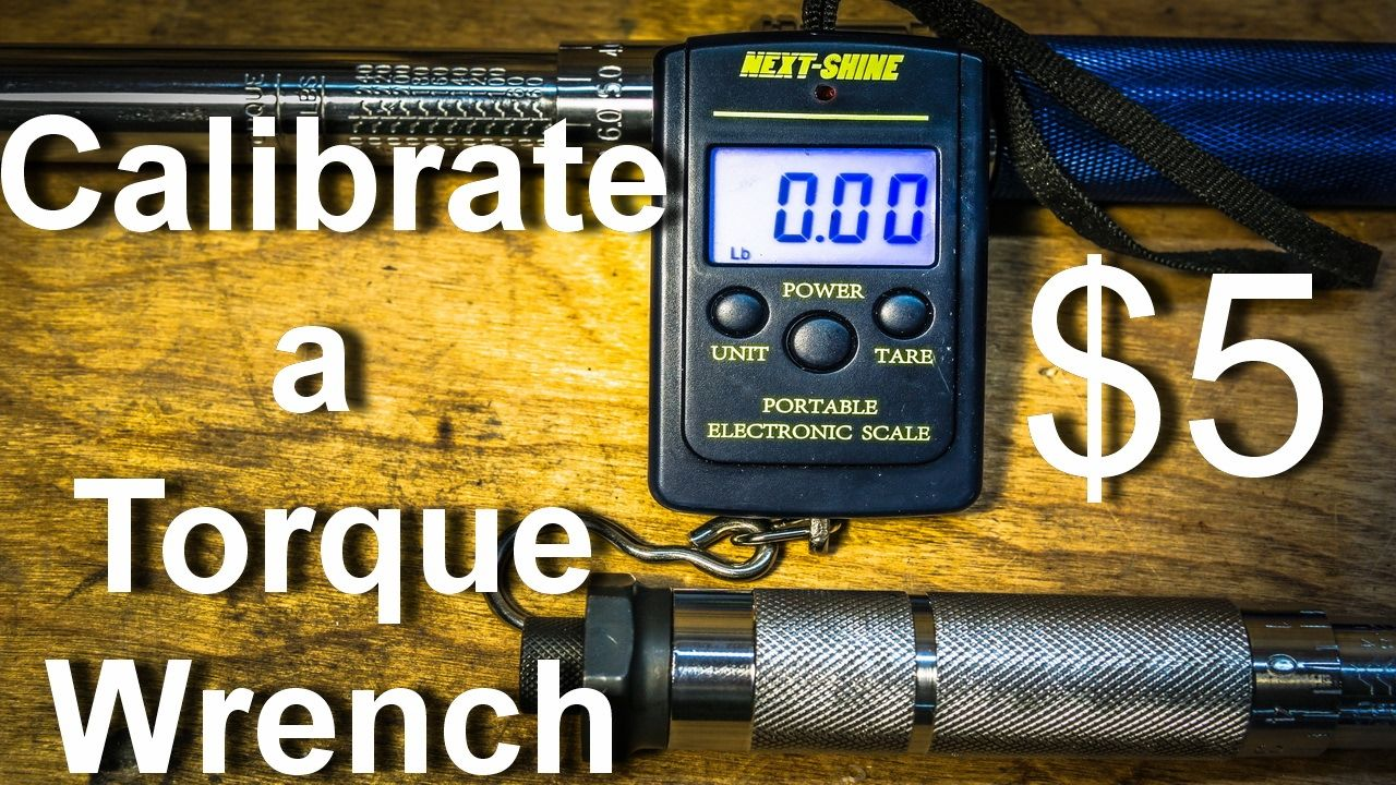 Calibrate a Torque Wrench with a 5 Luggage Scale