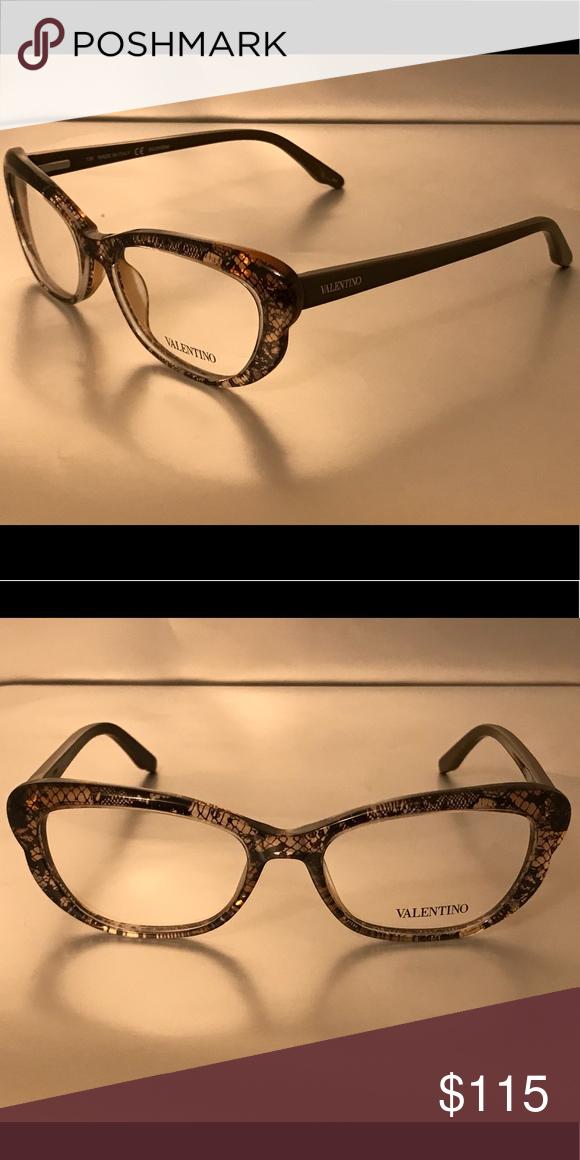 1c4c842bf8 Authentic Valentino Eyeglass Frames Brown Valentino Accessories Glasses