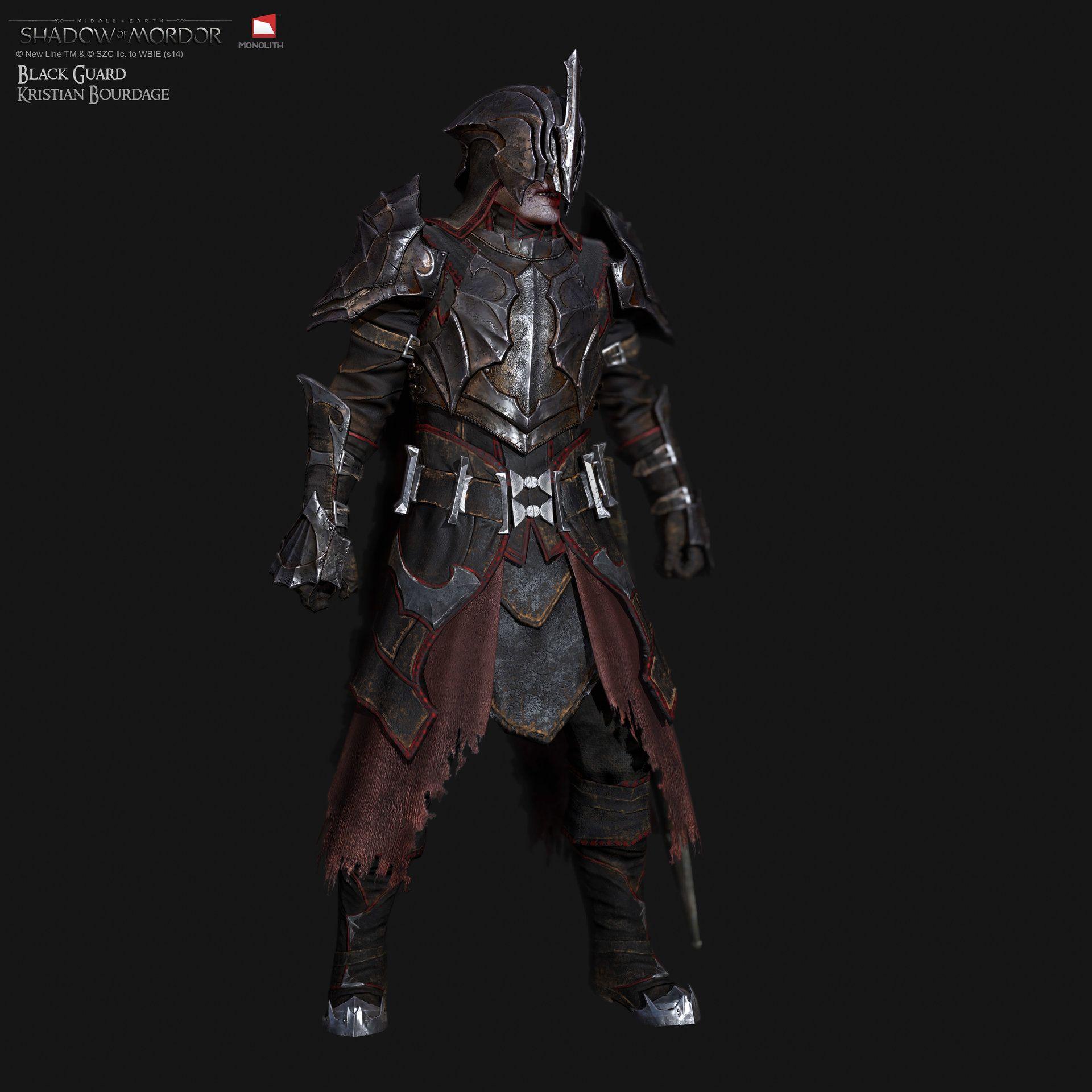 "ArtStation - Middle Earth ""Shadow of Mordor"" Black Guard ..."