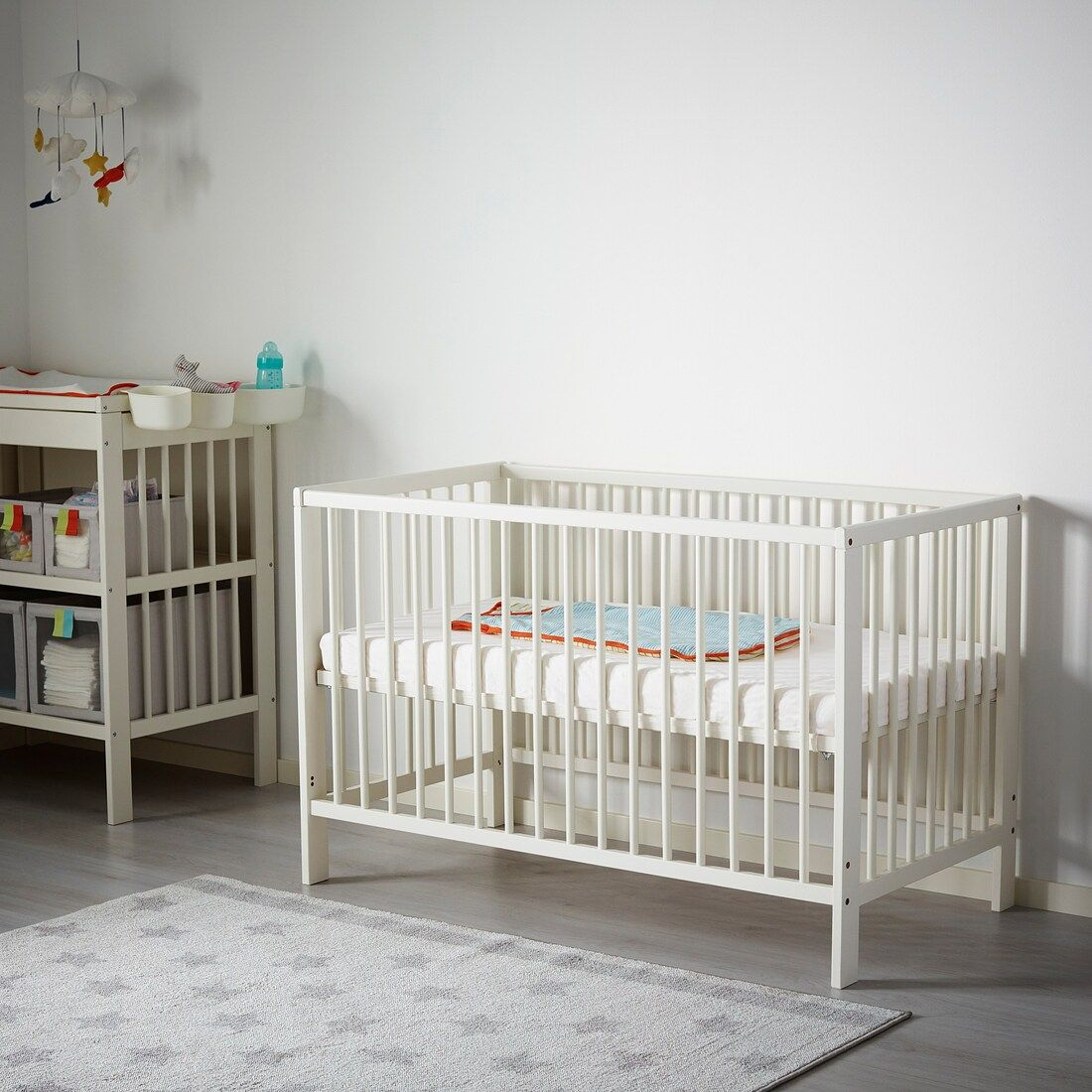 "GULLIVER Crib white 27 1/2x52 "" Ikea crib, Cribs, Ikea"