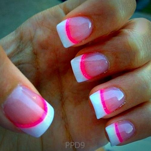 cute nail designs pink and black for 2014 style black