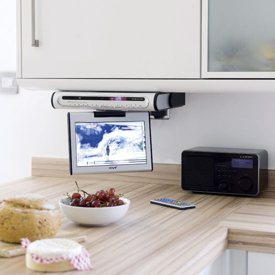7 Tv In Kitchen Ideas Tv In Kitchen Tv Under Cabinet Tv