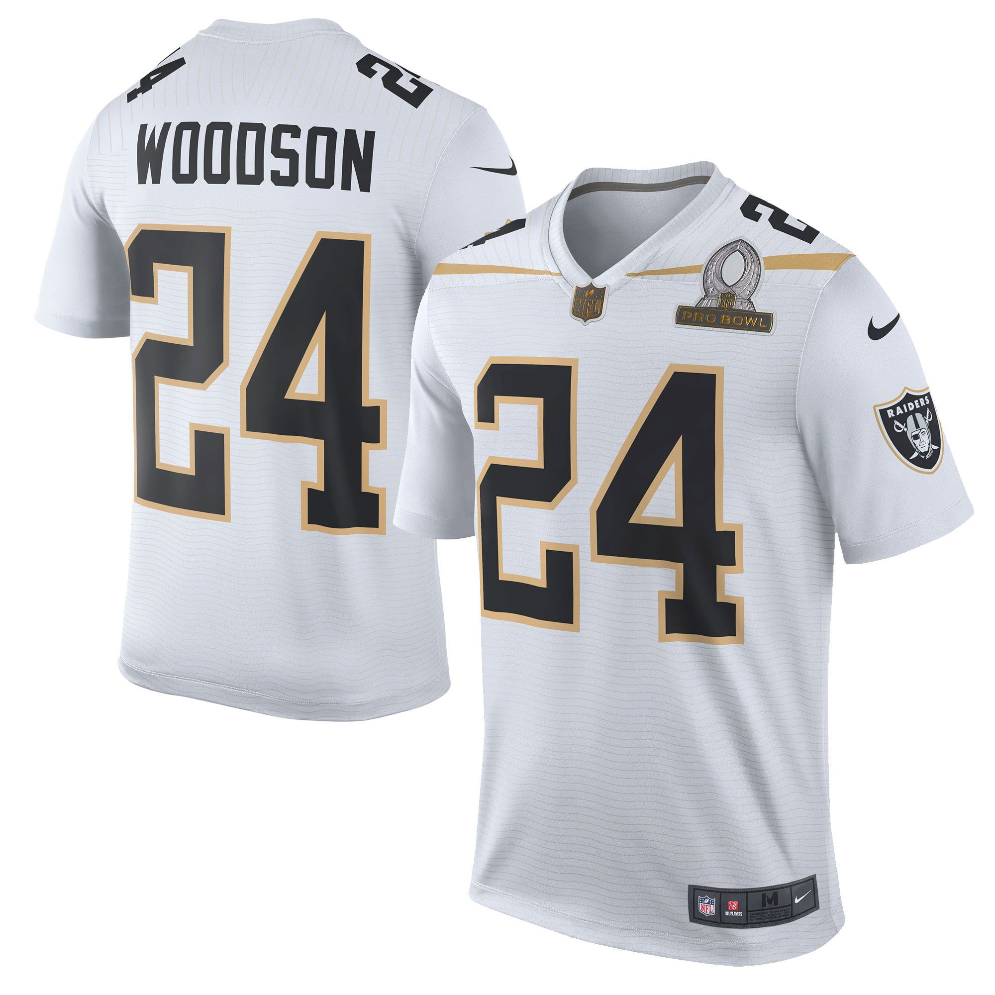 Charles Woodson Team Rice Nike 2016 Pro Bowl Game Jersey - White ... d9c7dc4f0a82