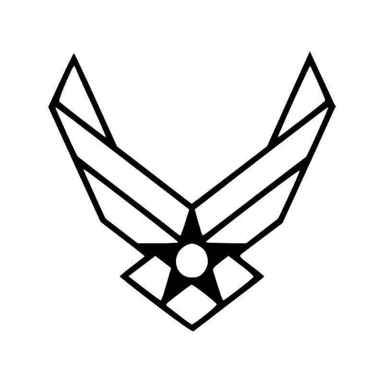 U S Air Force Insignia Badge Vinyl Decal Sticker