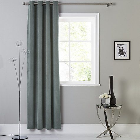Buy John Lewis Erba Single Thermal Lined Eyelet Door / Window Curtain  Online At Johnlewis.
