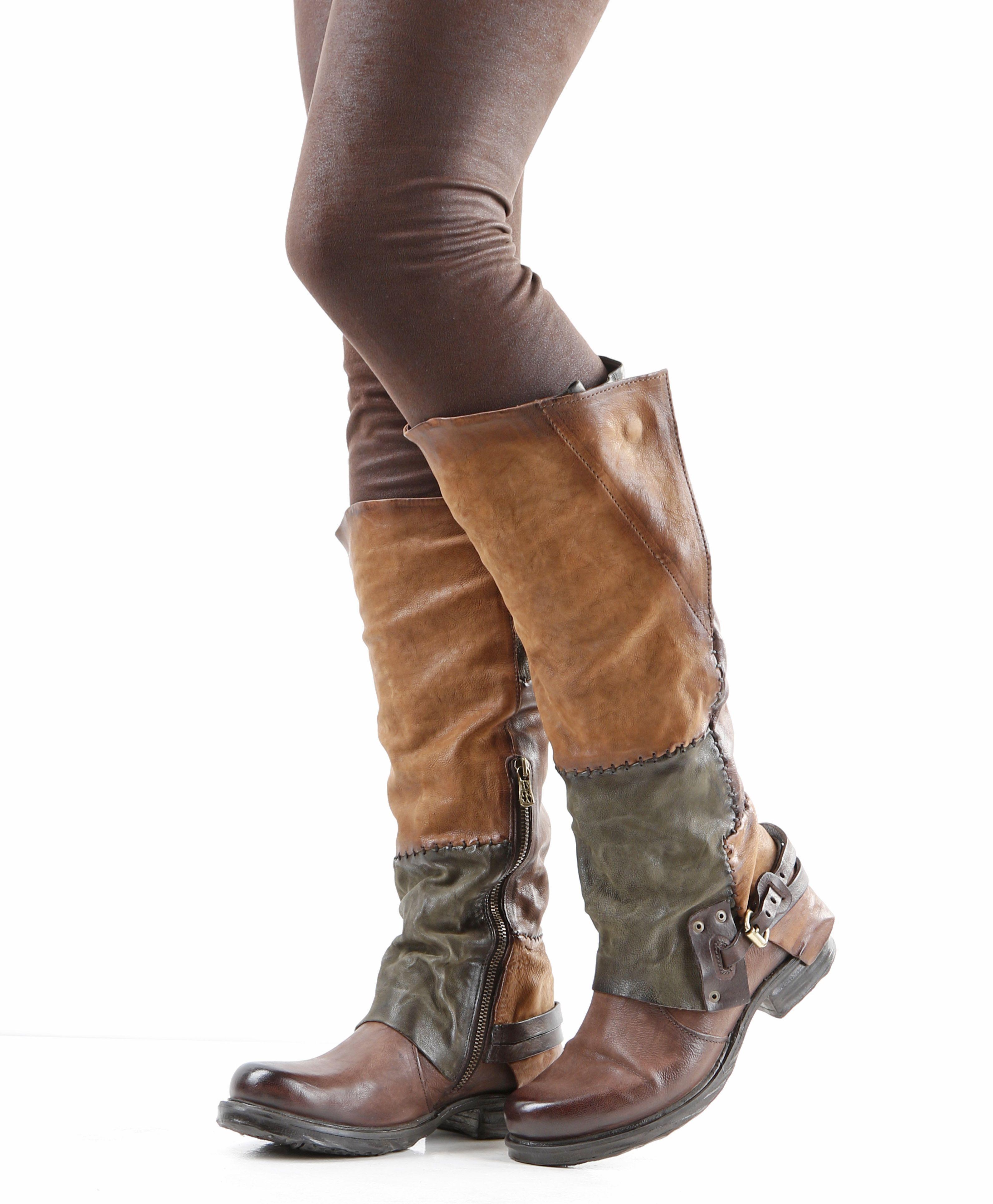 Femme bureau kiss slouch genou bottes noir bottes en cuir-afficher le titre d'origine