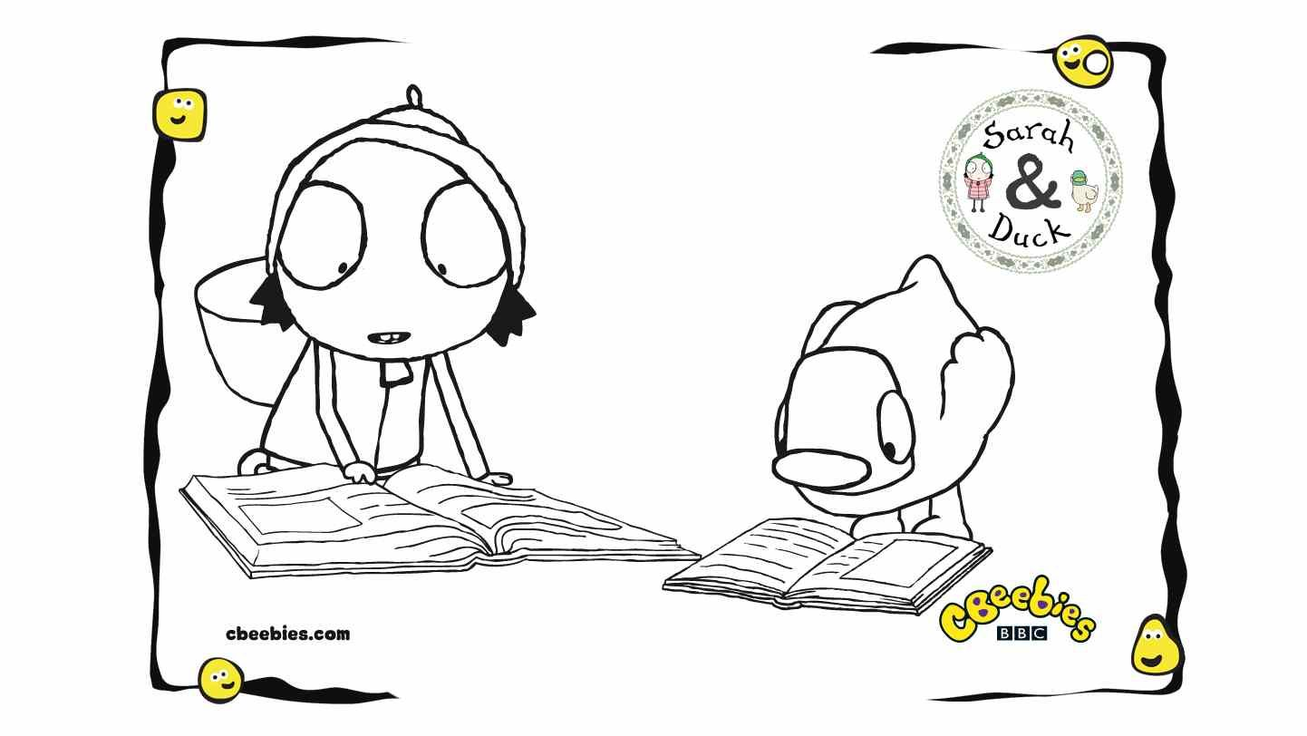 Sarah And Duck Coloring Pages For Kids Coloring Pages For Kids Coloring Pages Cartoon Coloring Pages