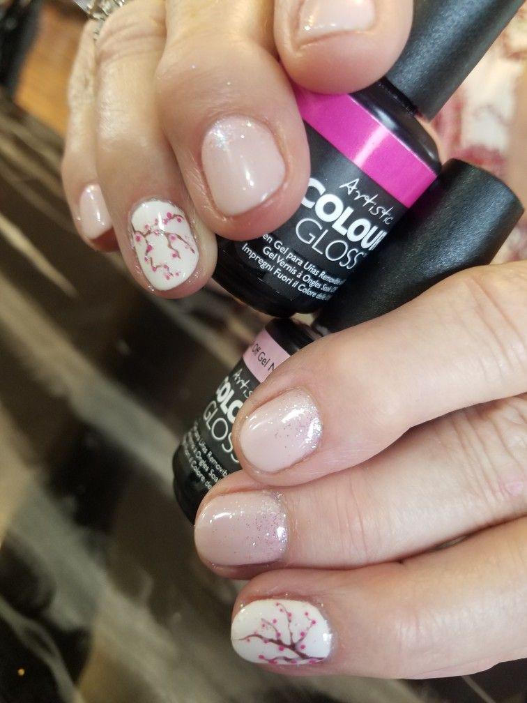 Cherry blossom gel polish Nail - Cherry Blossom Gel Polish Nail My Nails Artistic Nail Design