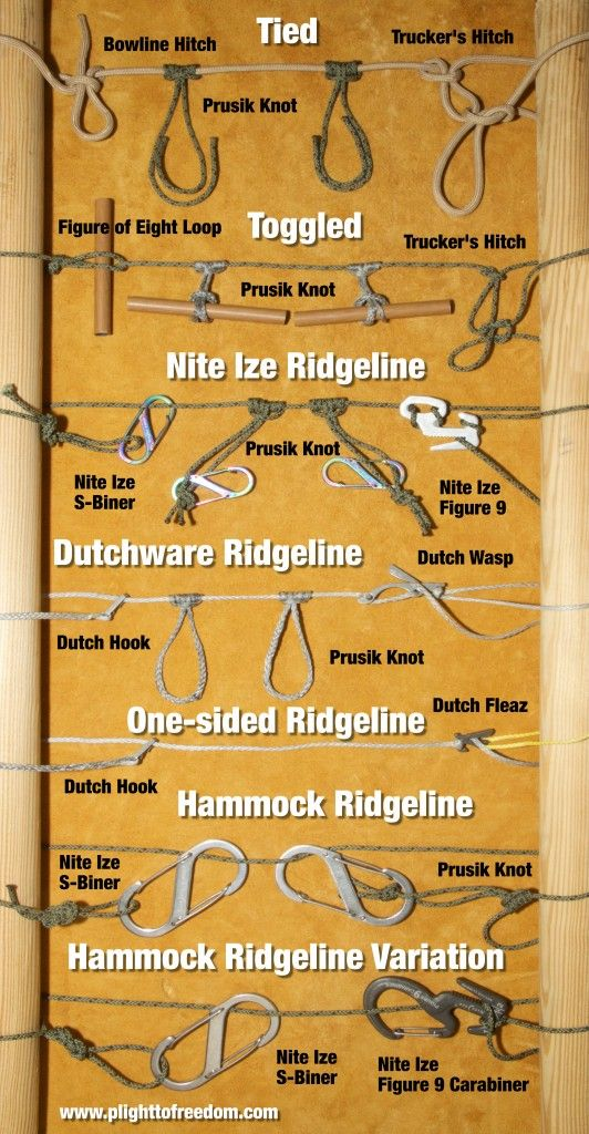 Knot Tying Archives Plight To Freedom Survival Knots Knots Hammock Camping