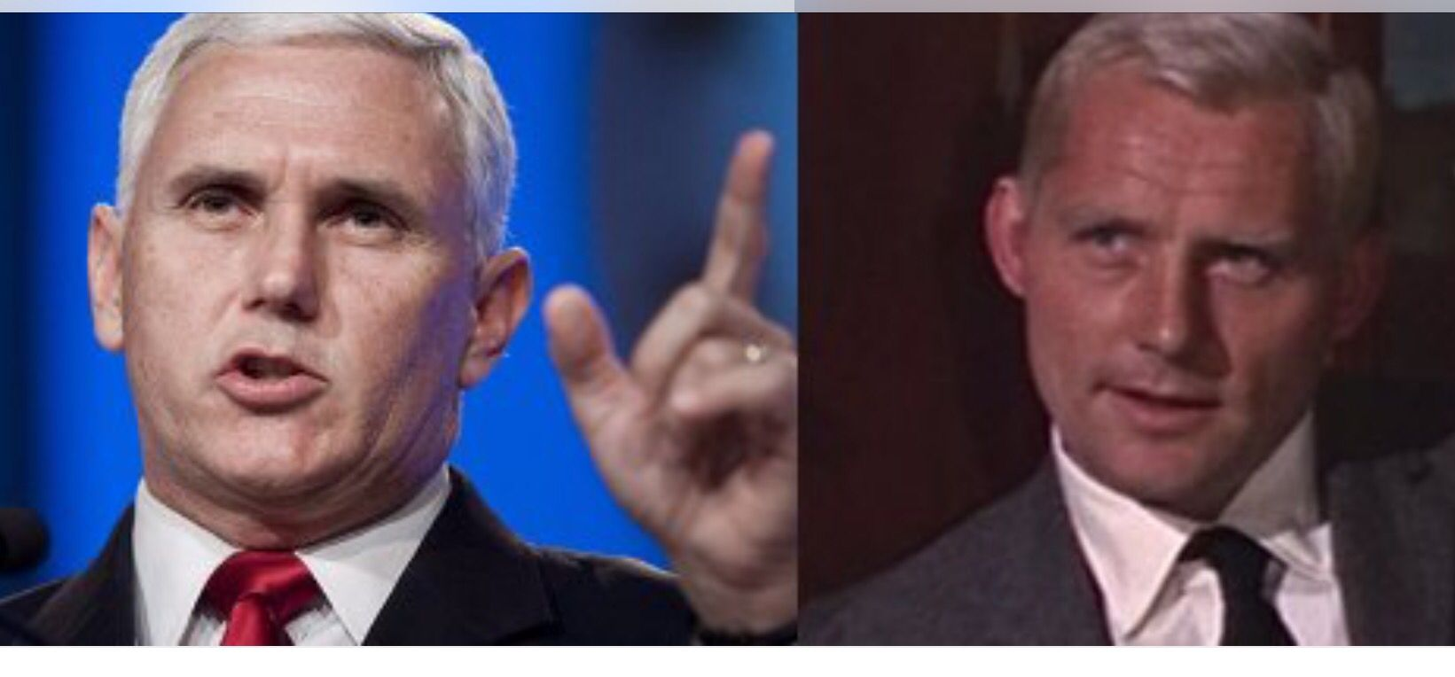 Mike Pence looks like villains