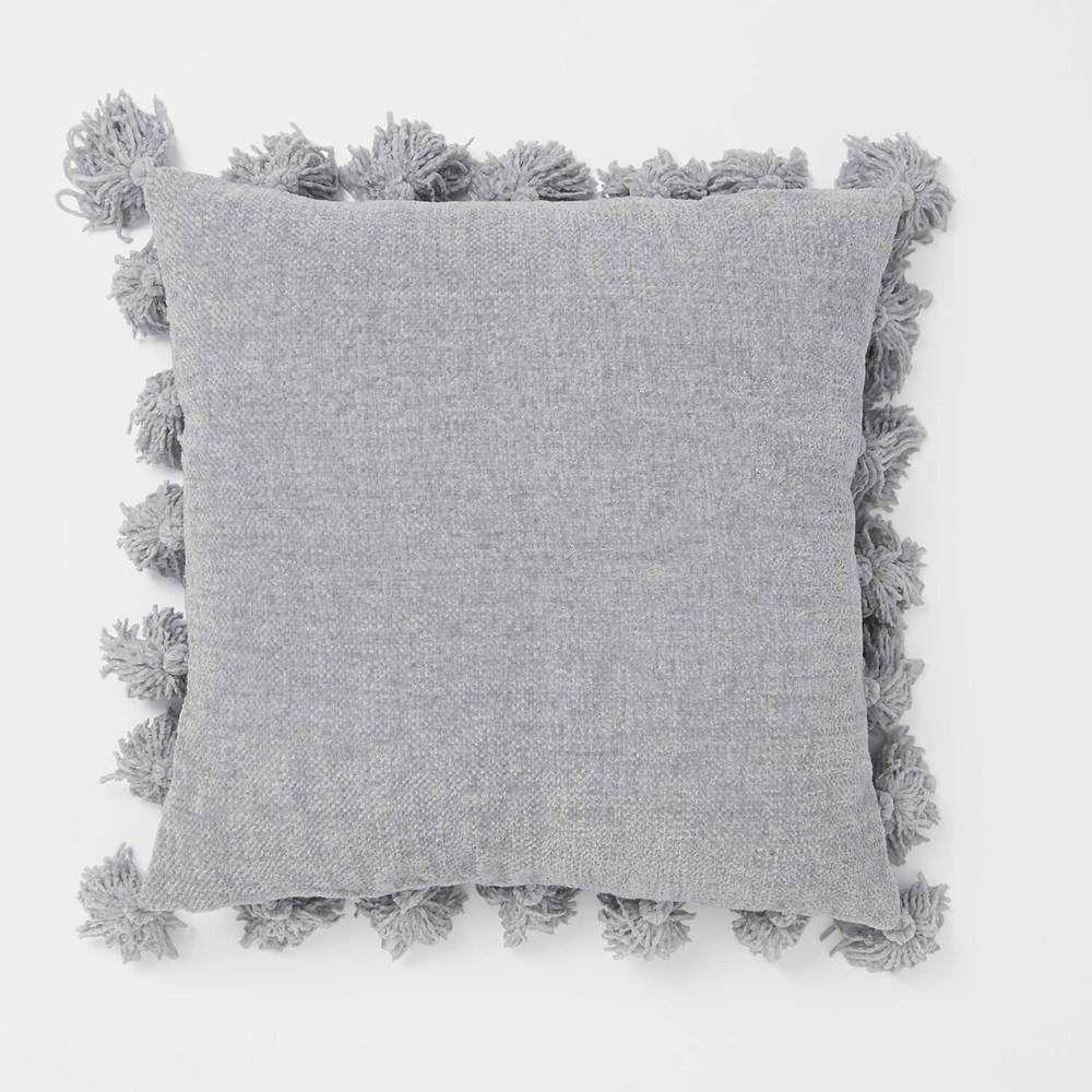 Chenille Knit Tassel Pillow