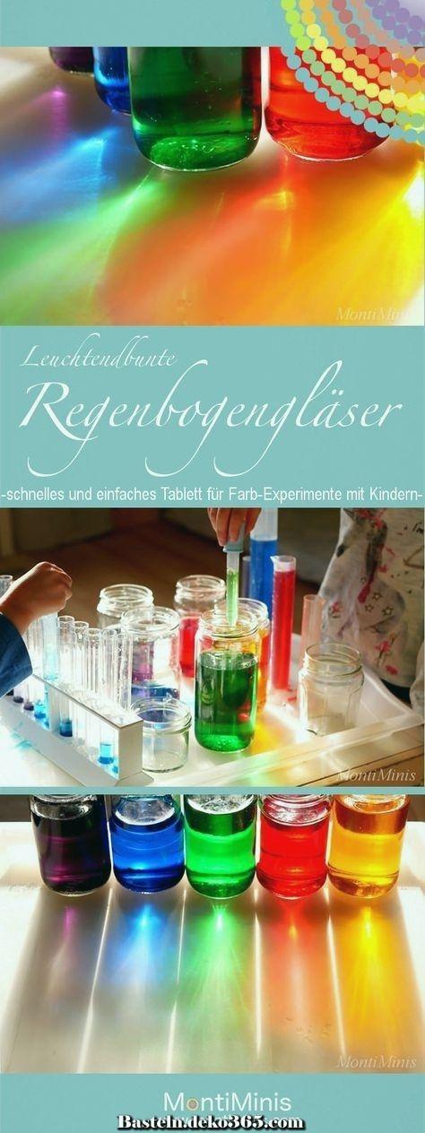 Experimentiere In Rainbow Glasses Mit Farben Projekt Farben