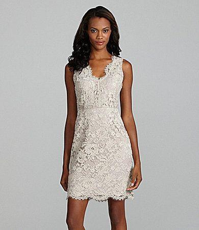a88362a2d1 DKNY Sleeveless white Lace Dress