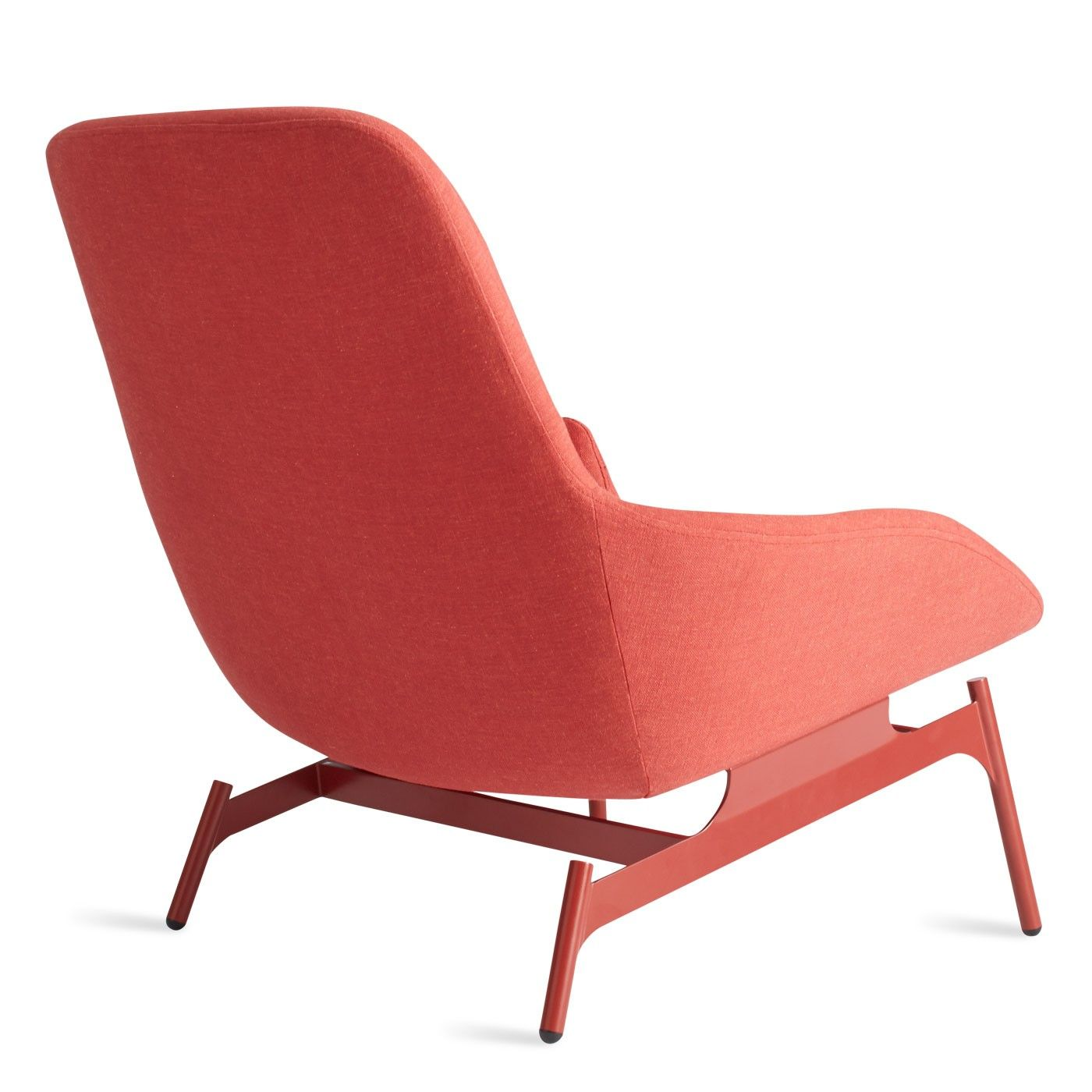 Field Red Modern Reading Chair   Back Corner
