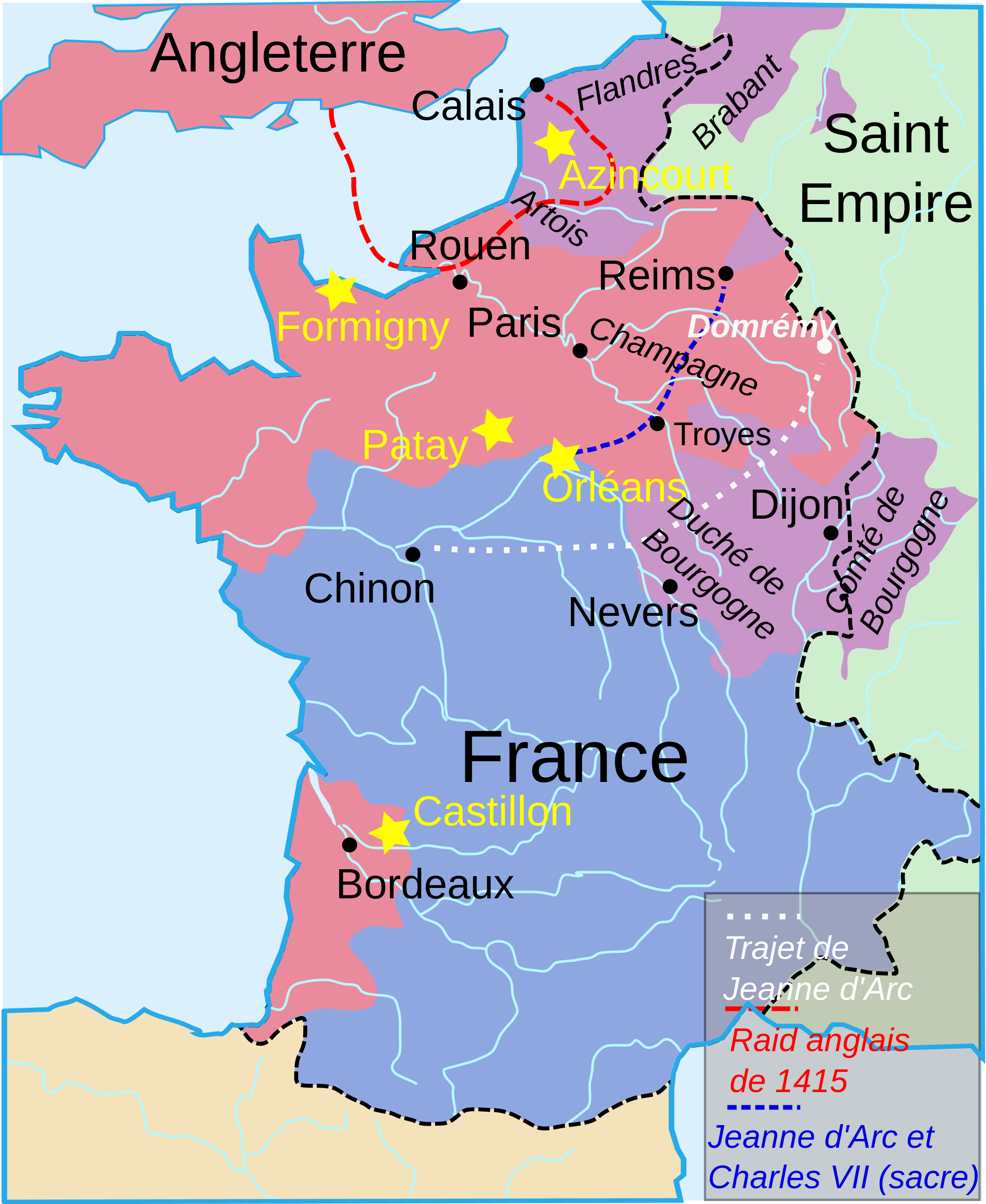 Early France Map