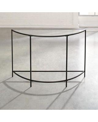 Soft Modern Console Table Black Glass Half Circle Modern Metal 4