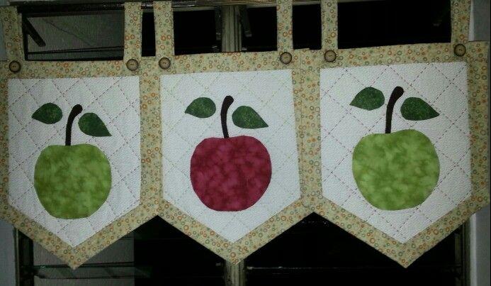 Cenefa cocina | Cortinas cocinas | Pinterest | Patch quilt, Patches ...