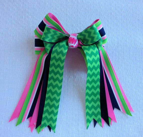 Equestrian hair bows by BowdanglesShowBows on Etsy