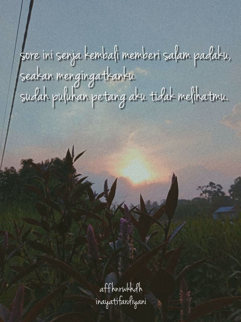 Quotes Kata Kata Rindu Senja In 2020 With Images Women Life
