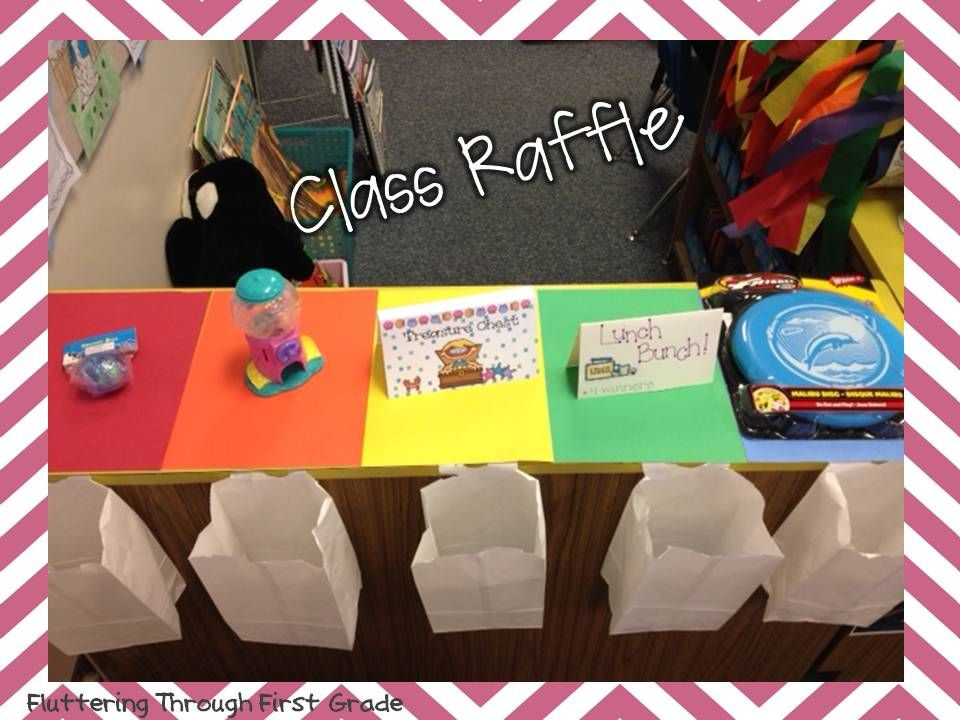 Fluttering Through First Grade: What's Your Trick? Terrific Tickets and Class Raffle