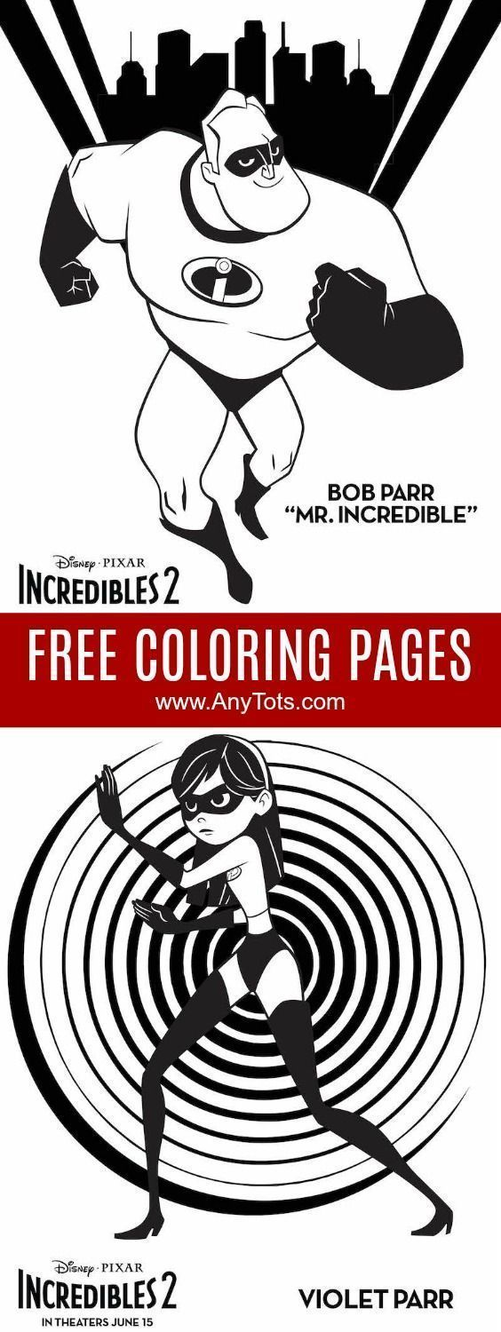 Incredibles coloring pages free printable incredibles