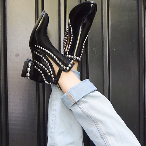 c6e4bd94131 The Jeffrey Campbell studded Rylance in black is unquestionably the item to  score this season.