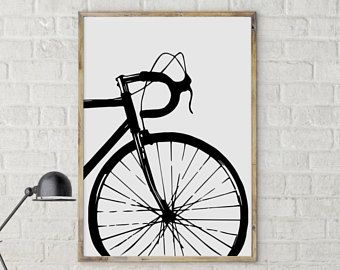 Cycling Poster Bike Art Print Bicycle Poster Bike Print