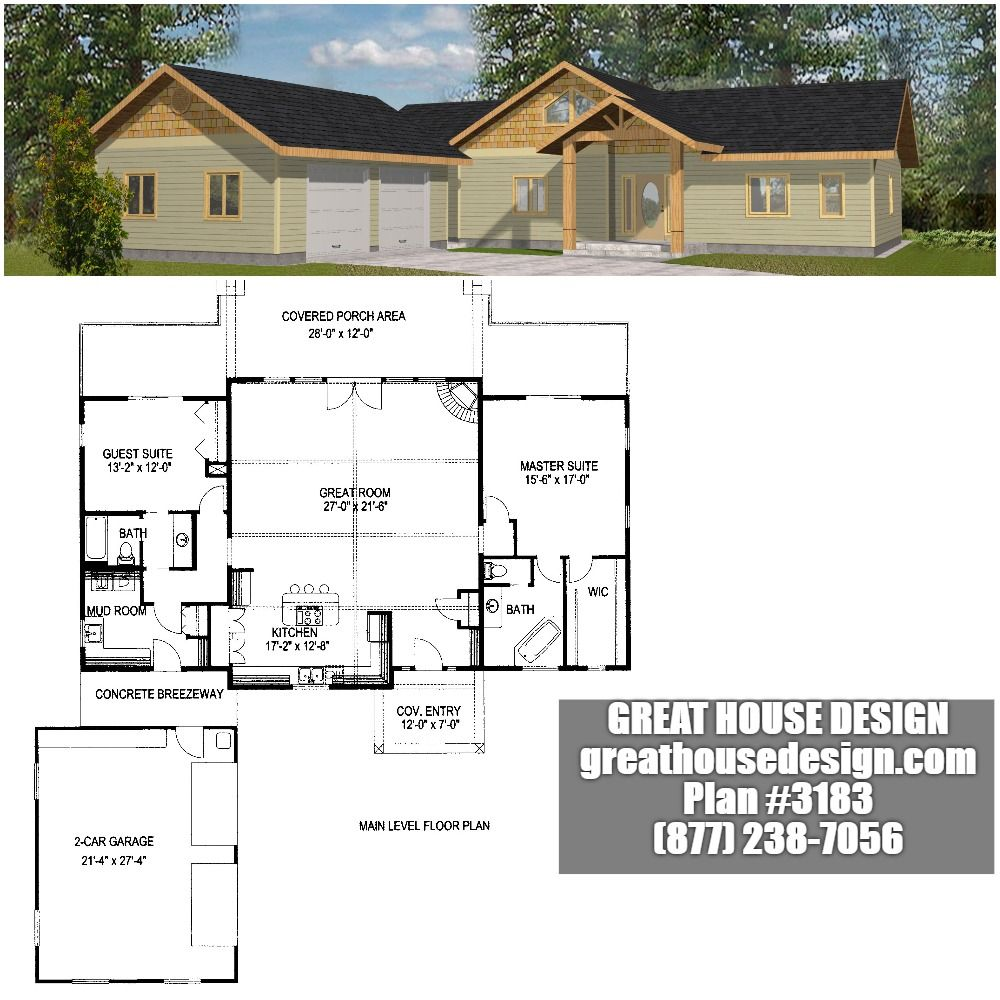 Home Plan 001 3183 Home Plan Great House Design Empty Nester House Plans House Plans Rancher House Plans