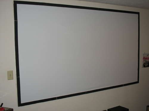 "Cheap DIY 100"" Projector Screen"
