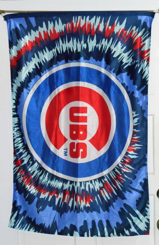 Chicagocubsclothbannerflag28x42burstbaseballmlb