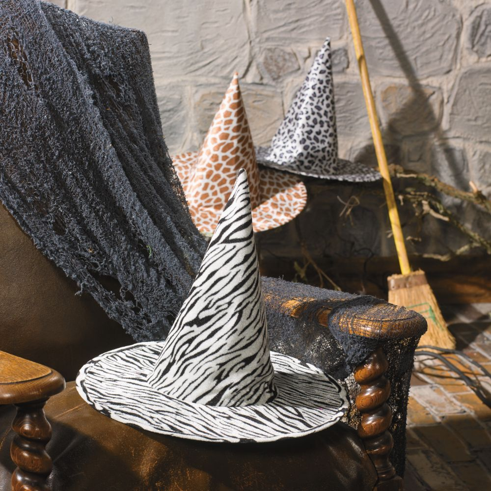 Animal Print Witch Hats