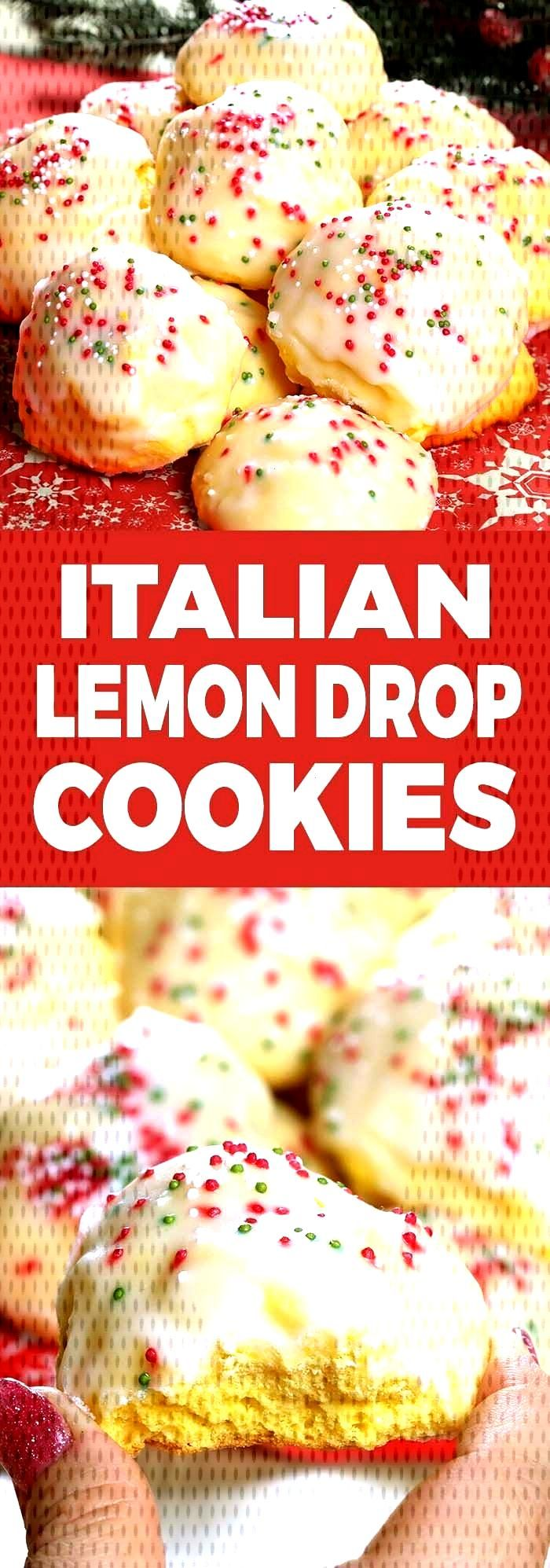 Lemon drop cookies, iced Italian cookies or anginetti, whatever your family call... -