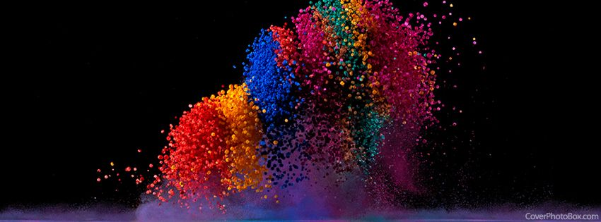 dancing colors facebook cover