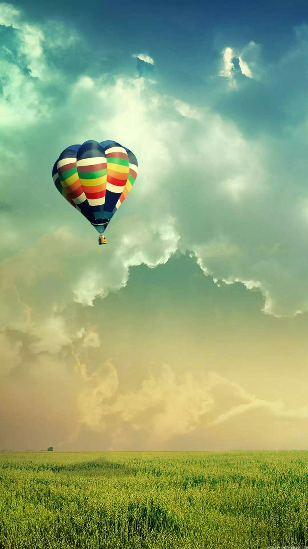 Hot Air Balloon Wallpaper AutumnFall Plants and Trees