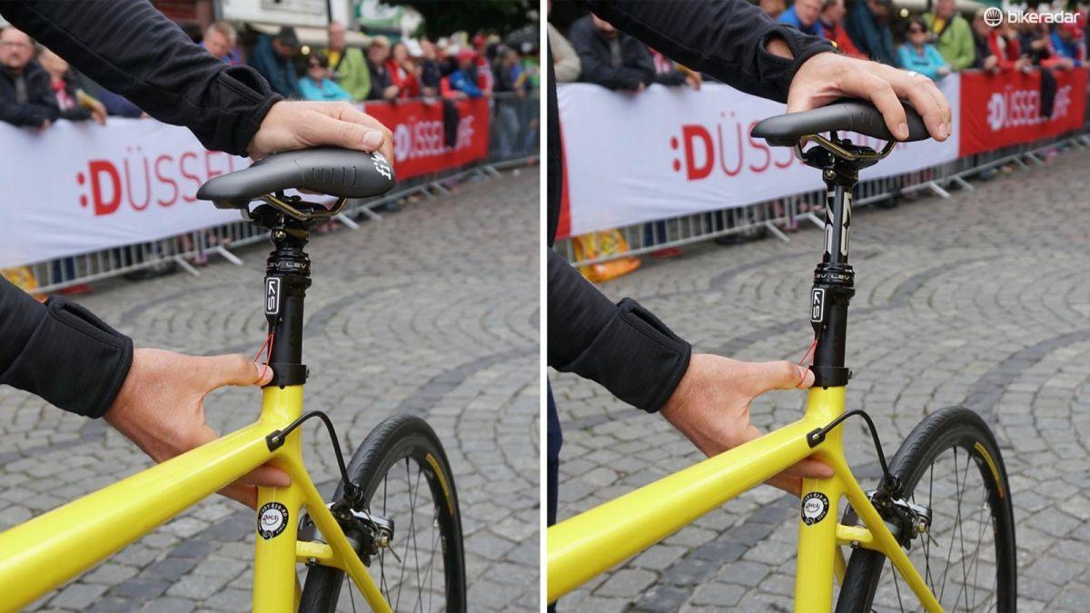 Dropper Posts In The Tour De France Mavic Specs Them On Neutral Bikes Tour De France Bike Bicycle