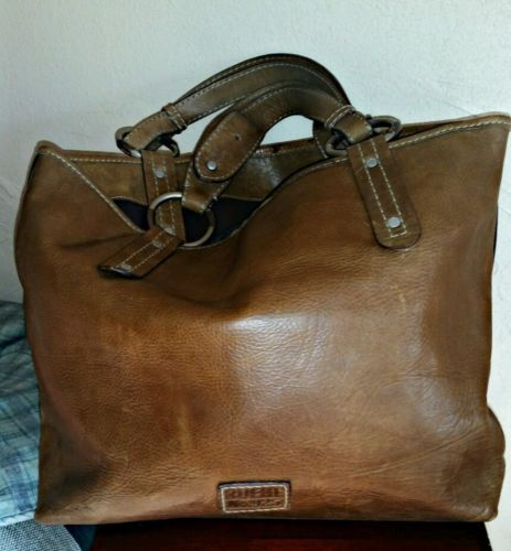 Ruehl No 925 Large Brown Leather Tote Handbag By Abercrombie Fitch