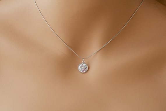 Single diamond necklace one stone necklace diamond pendant necklace single diamond necklace one stone necklace by elegantavenues aloadofball Choice Image