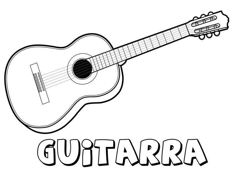 Instrumentos Musicales Para Colorear Buscar Con Google Guitarra Para Colorear Guitarra Para Dibujar Dibujos De Guitarras