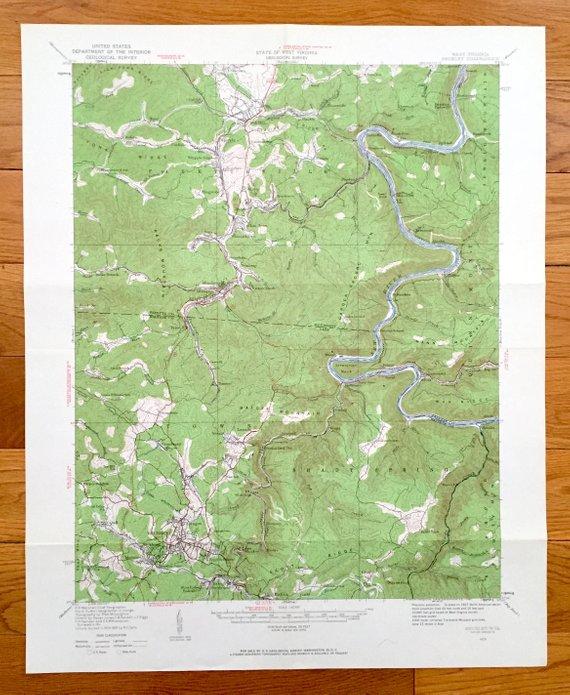 Topographic Map West Virginia.Antique Beckley West Virginia 1929 Us Geological Survey Topographic