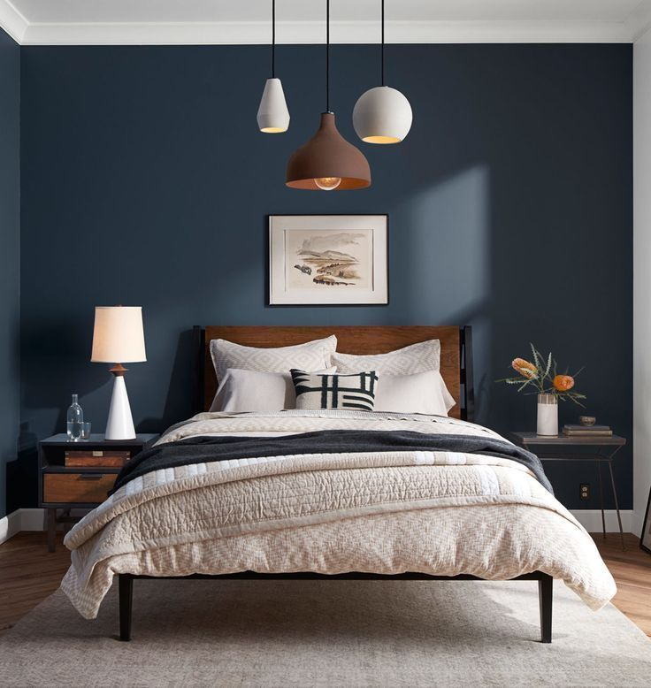 Dark Accent Wall in Bedroom Simple and Clean – Home Decoraiton