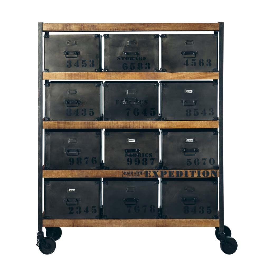 Cabinet Manufacture I N D U S Pinterest Maison Du Monde  # Meuble Metal Maison Du Monde