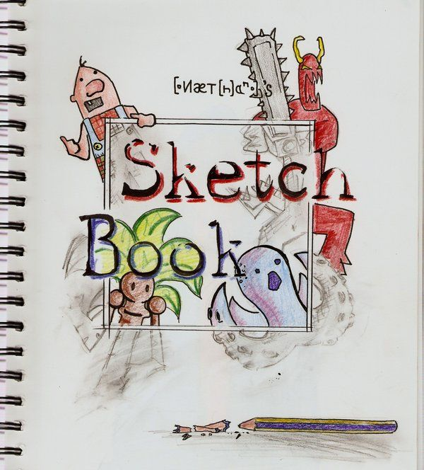 Sketchbook Cover Page By Nattoons On Deviantart Sketch Book