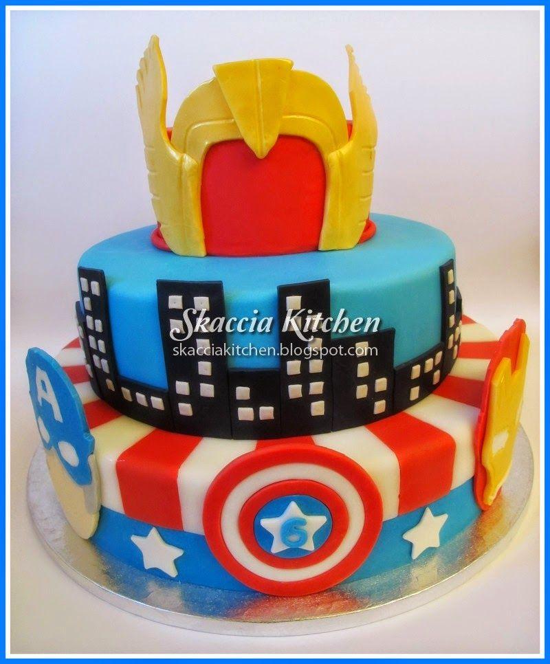 SKACCIA KITCHEN Avengers Cake Atakan taart Pinterest Avenger