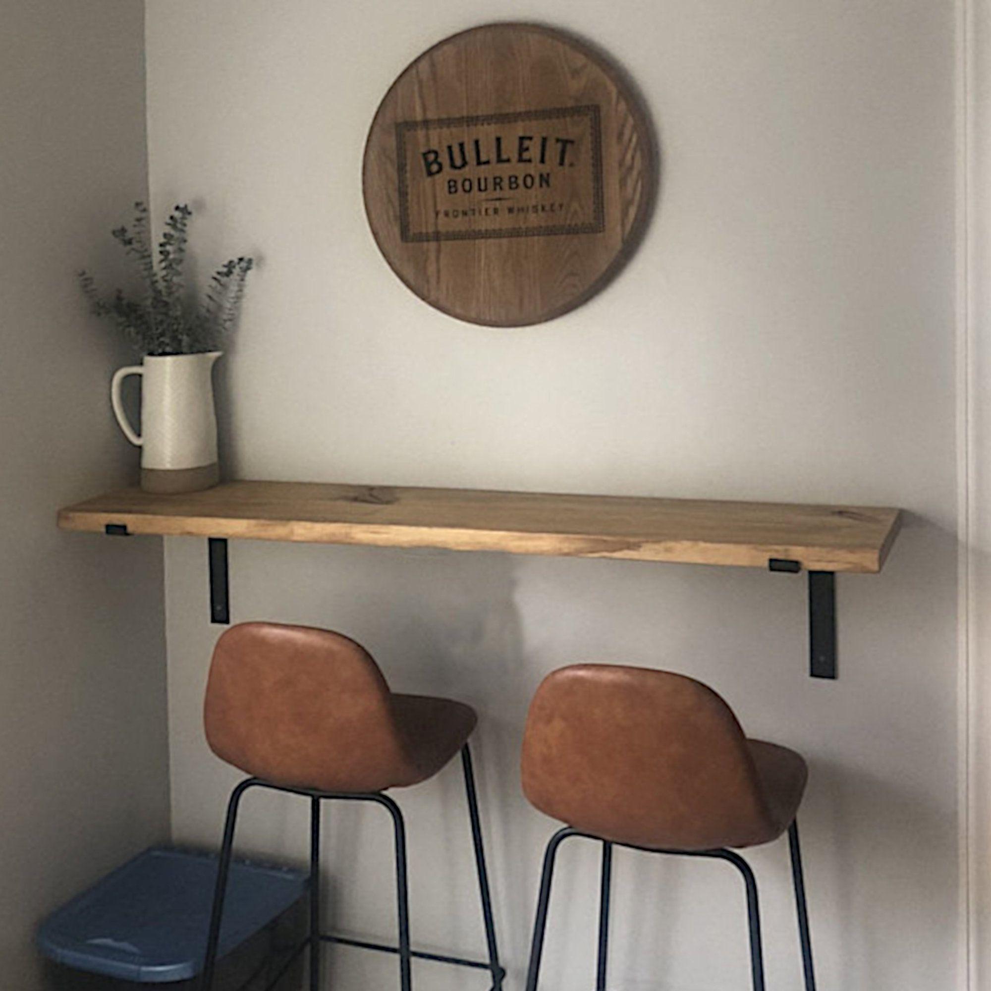 Modern Floating loft Bar table 9.9 L Bracket Golden   Etsy ...